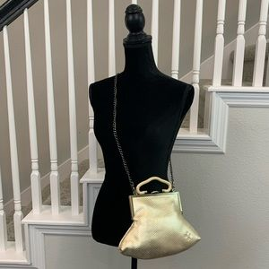 NWT Patricia Nash gold colored reptile pattern bag